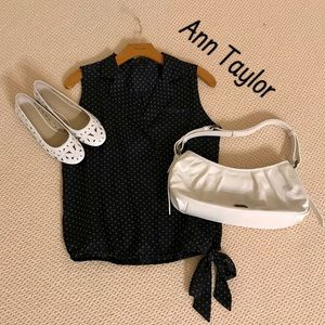 Ann Taylor Petite Cross Body Sleeveless Blouse-S/P